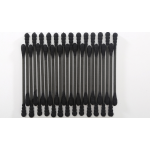 200 black spiral + water droplets cotton swab